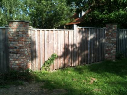 Mauer Garten, Holz Ziegel Mauer, Hoppenjans Referenz